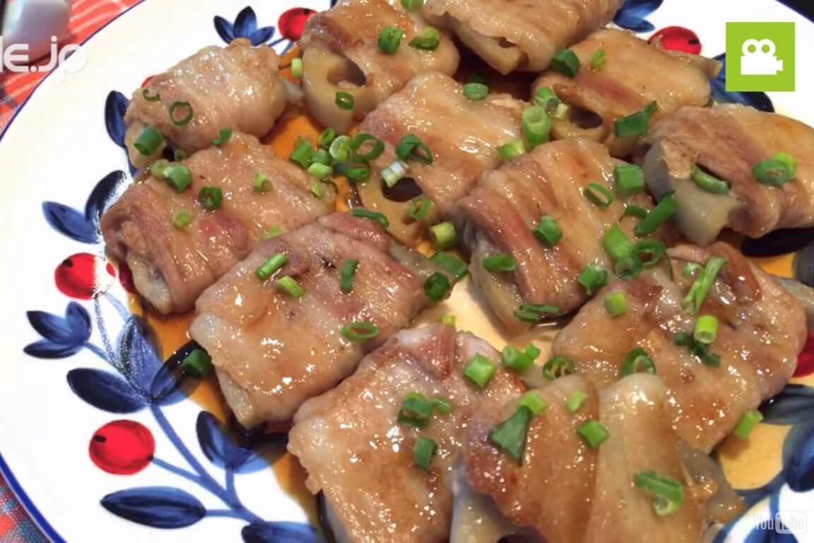 豚バラれんこん巻きの作り方・レシピ